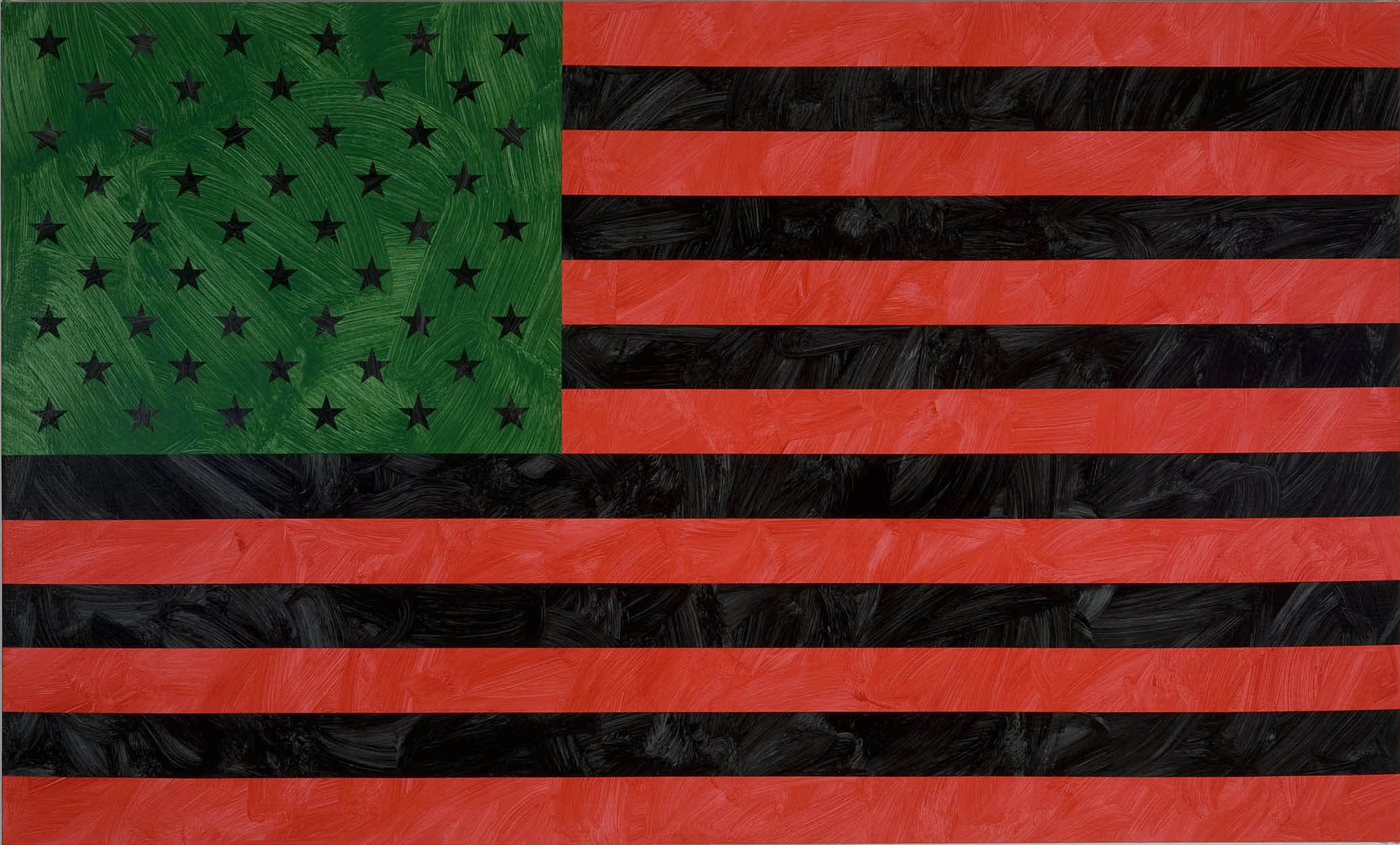 Louis Cameron | African-American Flag (after David Hammons), 2009 |