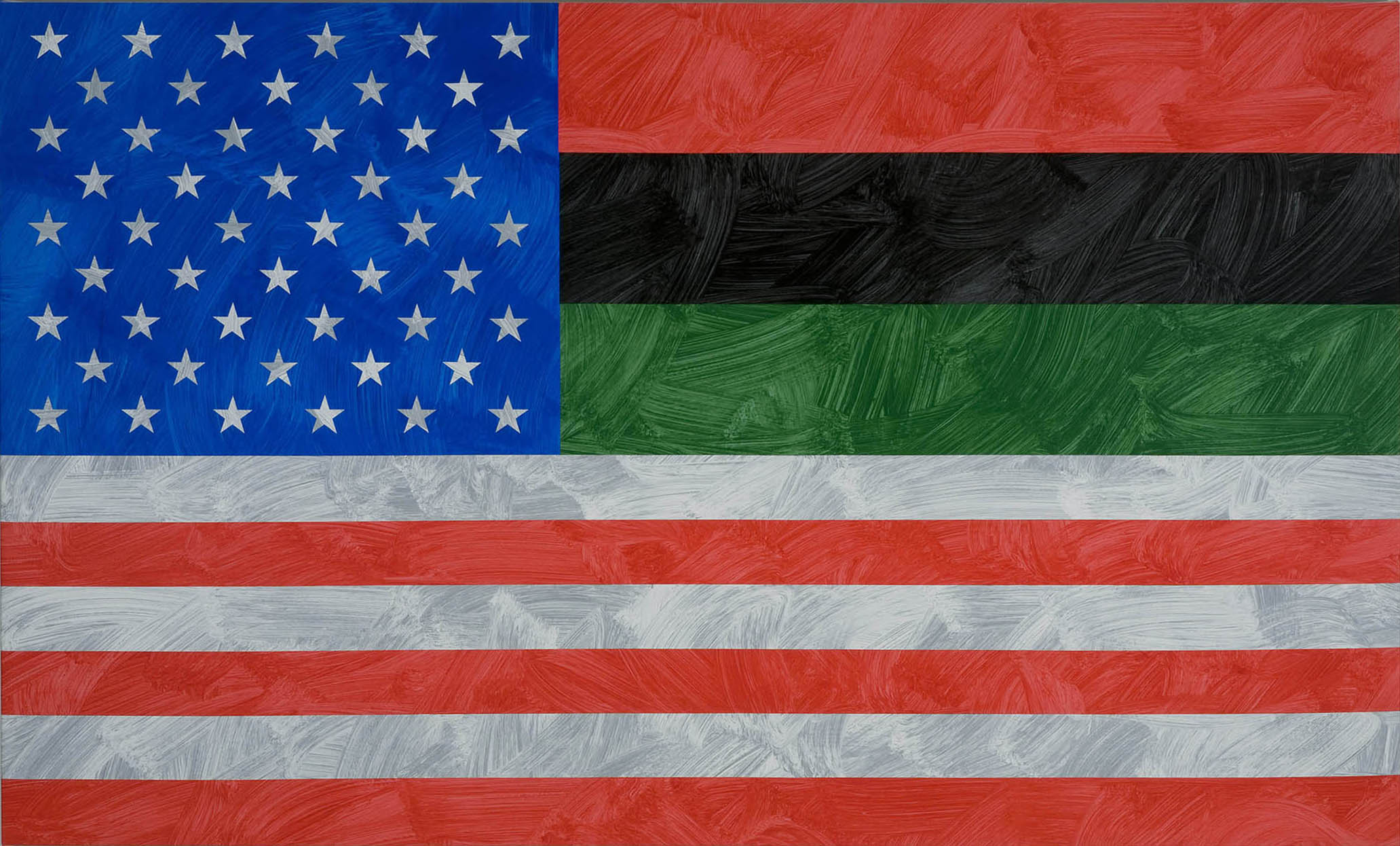 Louis Cameron | African-American Flag of Inclusion (after Cecil Lee), 2009