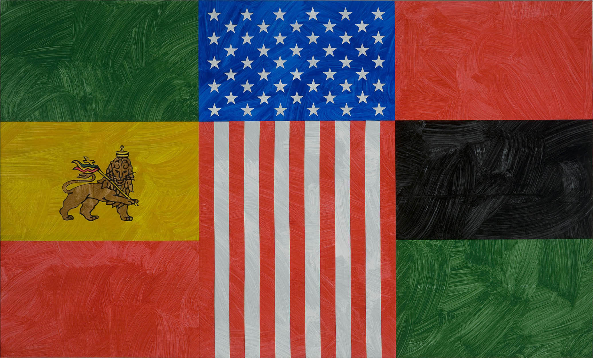 Louis Cameron | African-American Unity Flag (after Vincent W Paramore), 2009